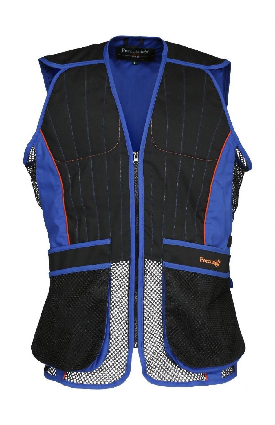Percussion Blue Black Clay Pigeon Shooting Skeet Trap Vest Ambidextrous New